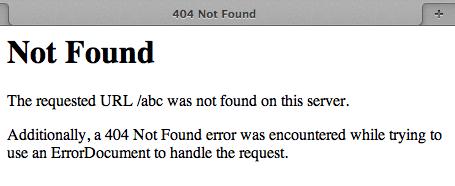 voorbeeld van een standaard error pagina