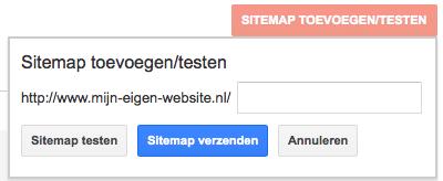 een sitemap aan google doorgeven