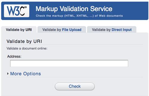 w3c validator check